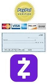 Send Payment by PayPal / Credit / Debit / Check / QuickPay or Zelle